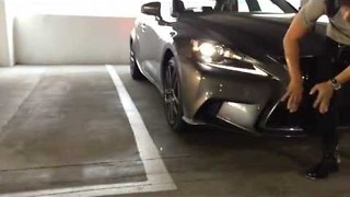 Guy Gets a Nasty Surprise Showing Off His New Lexus - Video