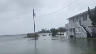 Hurricane Florence Floods Bogue Sound Homes in North Carolina - Video