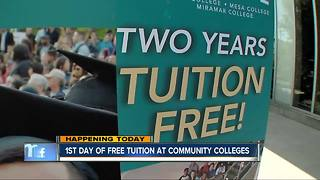 First day of tuition-free San Diego community college begins