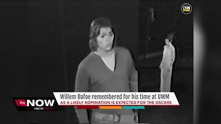 Willem Dafoe remembered for his time at UWM - Video