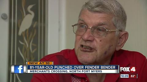 81-year-old man punched in road rage incident