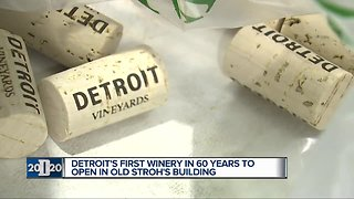 Detroit winery to open tasting room inside old Stroh's Ice Cream factory