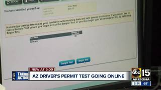 Arizona driver's permit test going online - Video
