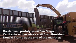 Trump Sending Clear Message About His Priorities with Trip to Visit Border Wall Prototypes - Video