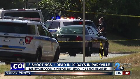 Three shootings, one dead in Parkville in just 10 days