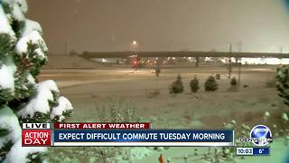 Winter storm causing crashes, delays in Denver area and high country - Video