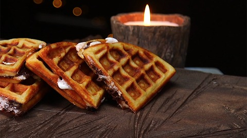 S'mores Waffle Sandwich