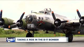 Taking a ride in the B-17 Bomber