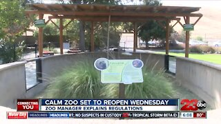 CALM zoo reopens Wednesday