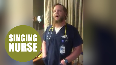 This is the touching moment a nurse soothed an anxious patient - by SINGING to her