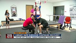 Library rape survivor continues recovery nine years later - Video