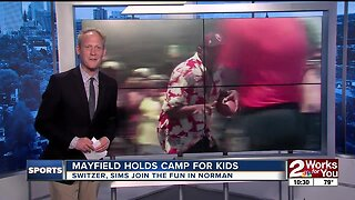 Baker Mayfield holds Football Camp for kids in Norman