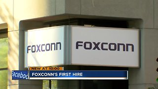 Foxconn makes first Wisconsin hire, looking to hire more