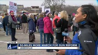 50-miles more march for gun reform - Video