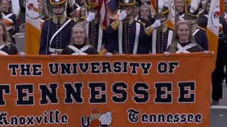University of Tennessee marching Band Marches In Inaugural Parade - Video
