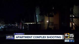 Officers respond to shooting at apartment complex in Phoenix - Video