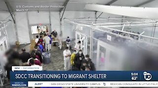 Convention center transitioning to migrant shelter