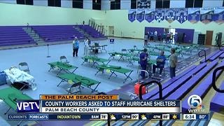 Palm Beach County to ask employees to staff hurricane shelters - Video