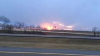 Wildfires Burn in Southeast Alberta - Video