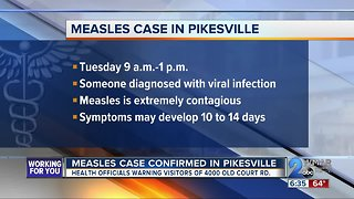 Measles warning in Maryland