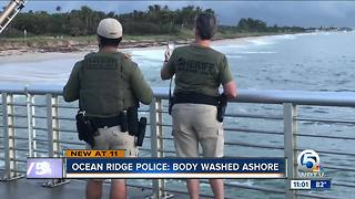 Body washes ashore in Ocean Ridge - Video