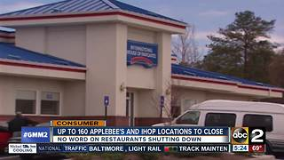160 Applebee's and IHOP locations to close - Video