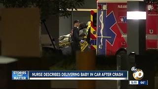 Nurse delivers baby after car crash - Video