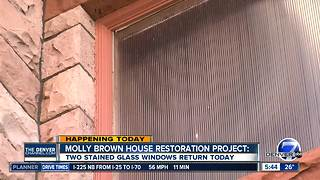 Stained glass windows being replaced at Molly Brown House - Video