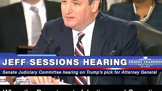 Ted Cruz Lambastes Democrats At Jeff Sessions Hearing - Video