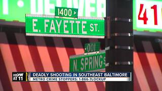 Man dies after shooting in southeast Baltimore Sunday - Video