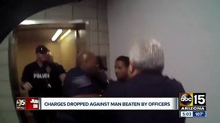 Charges dropped against man punched by Mesa cops