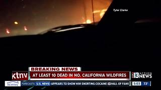 Wildfires tear through northern California - Video