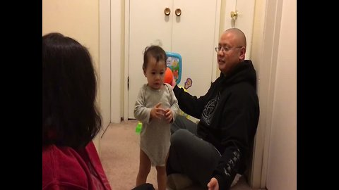 Baby's Reaction to Dad's Trick is TOO CUTE