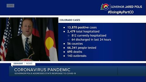 Gov. Polis gives update on COVID-19 in Colorado