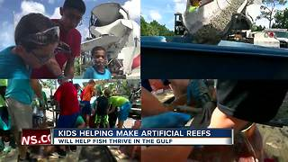 Kids help make artificial reefs - Video