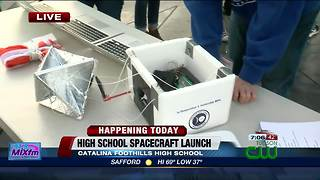 Preparations for Catalina Foothills High School spacecraft launch