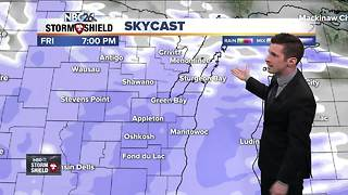 Tracking snow for Friday evening - Video