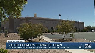 Valley church reverses course on in person Easter service