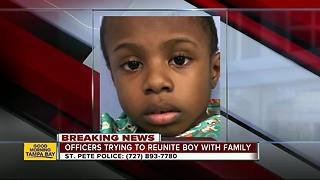 Young boy found alone in St. Petersburg, police search for family - Video