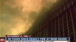 Monday marks 36 years since MGM Grand fire