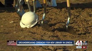 Groundbreaking ceremony for new Lenexa library - Video