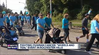 Wheels and Teal event to fight ovarian cancer - Video