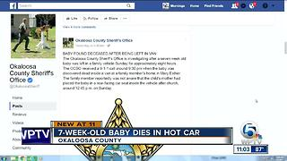 7-week-old Florida child dies, left in hot van for 8 hours - Video