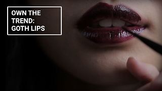 Winter make-up looks: Goth lips - Video