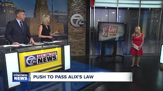 Renewed push to pass Alix's Law - Video