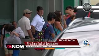 Puerto Rico residents face crowded airports - Video