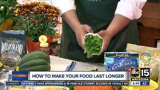 Simple tips to make your fall produce and meals last - Video