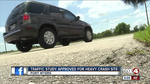 Fort Myers approves traffic study for heavy crash site.