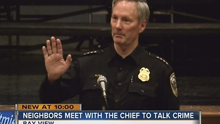 Chief Flynn attends Bay View public safety meeting - Video