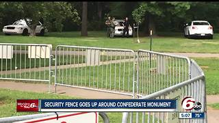 Gate now surrounds Confederate monument at Garfield Park after hammer attack - Video